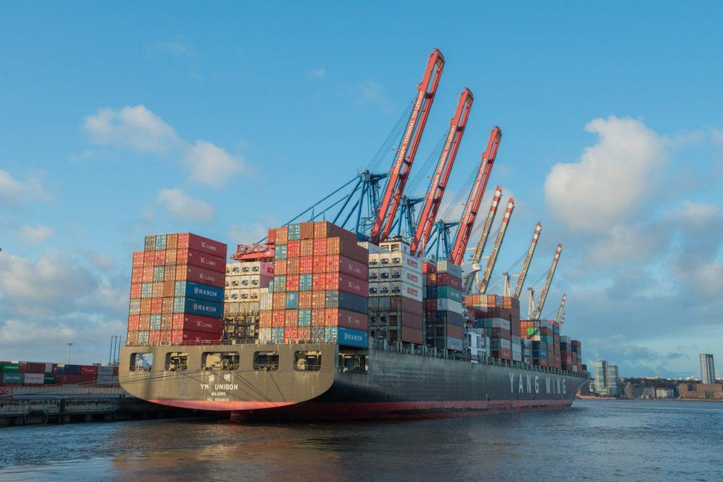 SMV eksportstrategi - fragtskib bagfra